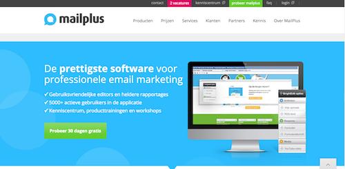 MailPlus homepage