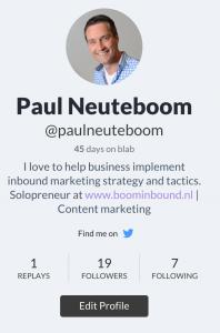 Profiel Paul op Blab