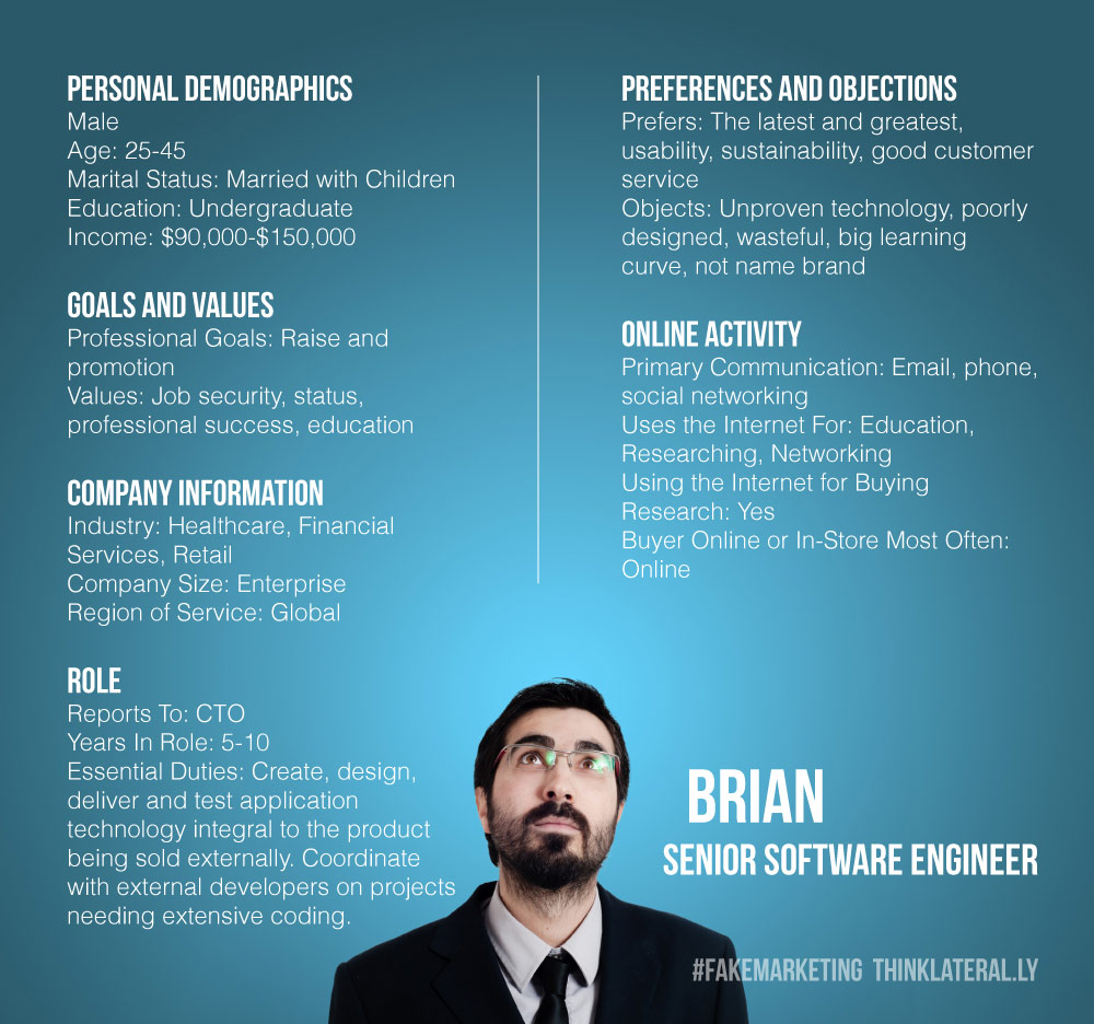 Buyer persona Brian Bad