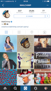 MailChimp Instagram account