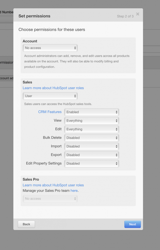 Gebruiker permissies in HubSpot CRM